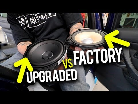 Replacing TWELVE Factory BMW M3 Speakers **NEW SOUND SYSTEM**