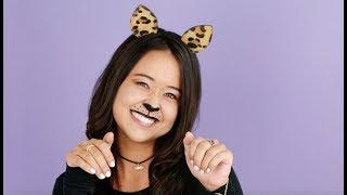 Easy Last-Minute Halloween Costume: Cat Make-up