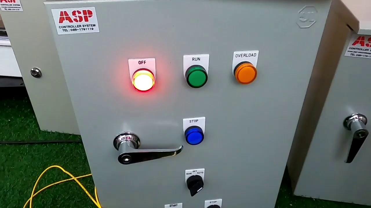 ตู้ควบคุมเปิด ปิด ปั๊มน้ำหอยโข่ง 3 แรงม้า 220V  สั่งงานด้วยระบบ ทามเมอร์ +เพรสเชอร์สวิทช์+วาวล์ไฟฟ้า