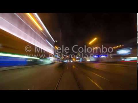 0055 - time lapse - Munich in motion blur from a tram - 4K
