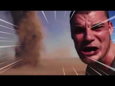 I put kahoot music over a guy running into a tornado