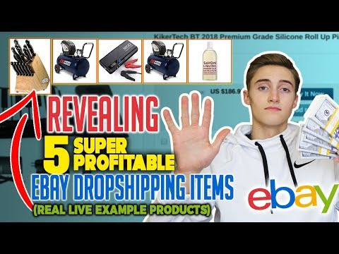Revealing 5 SUPER Profitable Ebay Dropshipping Items (REAL LIVE Example Products)