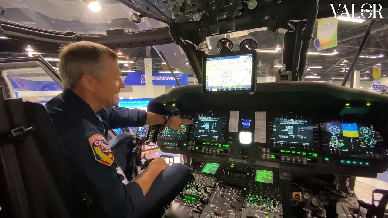 Cal Fire Sikorsky S-70i Firehawk avionics - YouTube