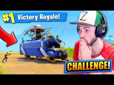 The BATTLE BUS CHALLENGE in Fortnite: Battle Royale! (HARD)