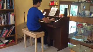 Kid Plays Toccata and Fugue in D Minor