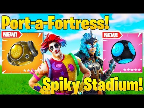 Streamers USE *NEW* Port-A-Fortress and Spiky Stadium! (NEW SKINS!)
