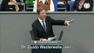 Westerwelle: Europa als Wohlstandsnation muss geschützt werden