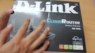 D-link WiFi cloud router DIR-605L Unboxing
