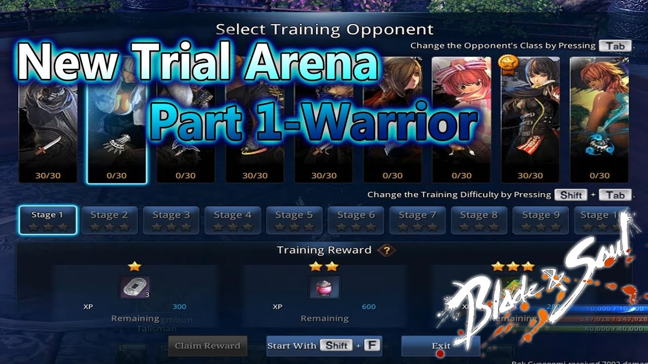 Blade and Soul- New Trial Arena - Warrior Part 1
