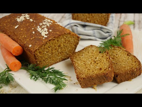 Schwedisches Karottenbrot / Brot backen ohne Hefe / Osterbrot / Morotslimpa