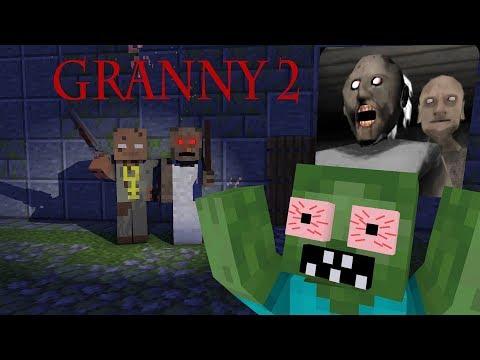 Monster School: GRANNY 2 HORROR GAME CHALLENGE