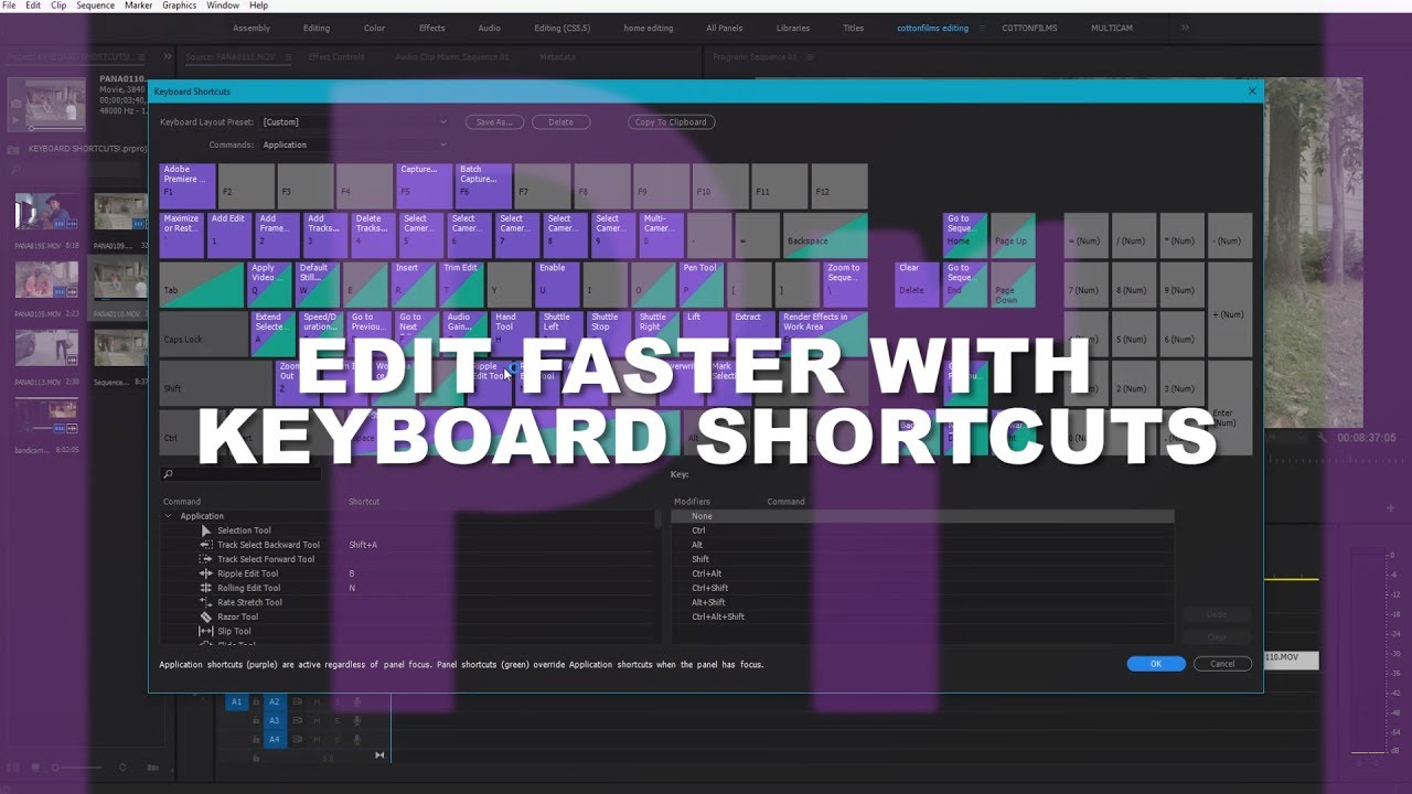 Speed Up Your Editing with Keyboard Shortcuts | Adobe Premiere Pro