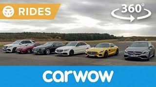 Mercedes - AMG GT v C63 vs S65 v A45 v GLE63 360 degree drag race | Passenger Rides