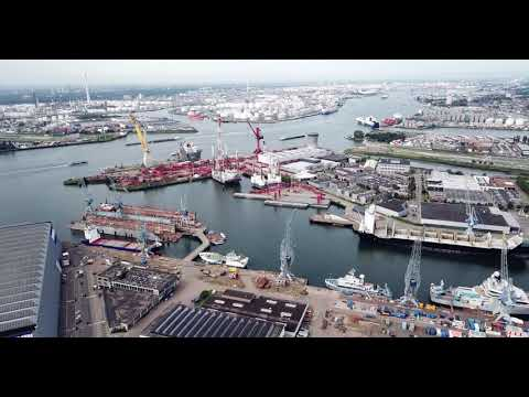 【4K】Port of Rotterdam by Drone !!!!!!