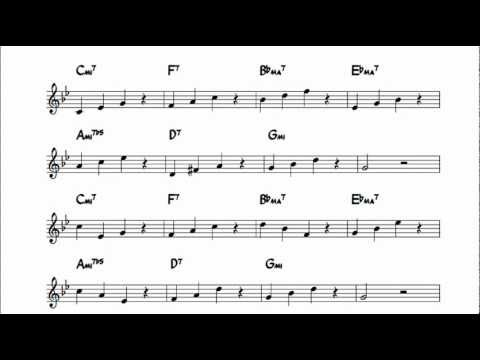 Jazz improvisation exercises for Autumn Leaves