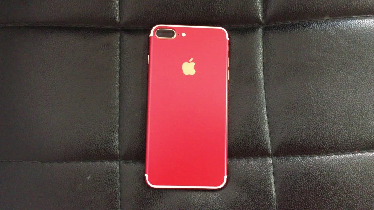 Custom Product Red Skins For Iphone 7 Plus Youtube