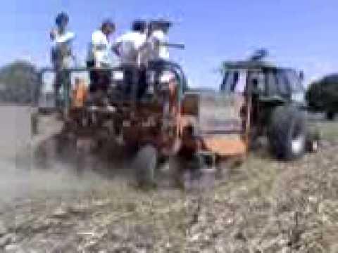 Cosechadora de trigo para tractor