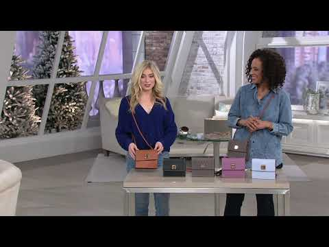 Dooney & Bourke Pebble Leather Flap Crossbody - Gingy on QVC