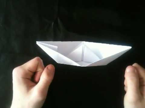 cr er un bateau en origami navire en papier youtube. Black Bedroom Furniture Sets. Home Design Ideas