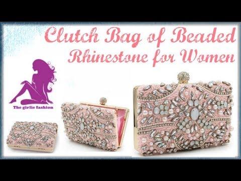 MS HEDY Beaded Rhinestone Wedding Party Clutch Women Luxury Brand Clutch Bag