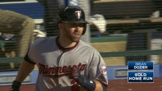 Brian Dozier drills a solo home run that clears the left-field fenc...