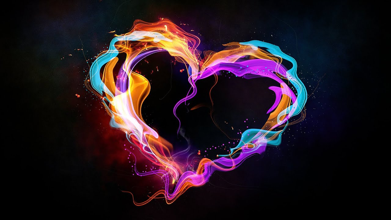 3d Colour Wallpaper Free Download Multicolor Heart In Photoshop Photoshop Tutorial