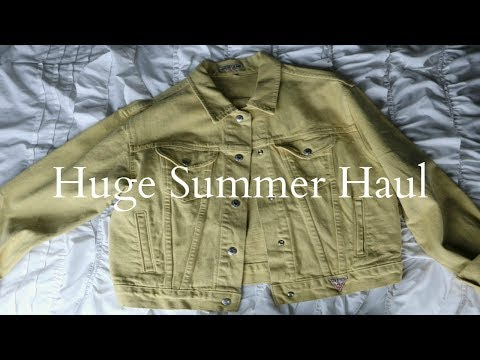 HUGE SUMMER HAUL 2017 | Brandy, Thrifted & Vintage Clothes