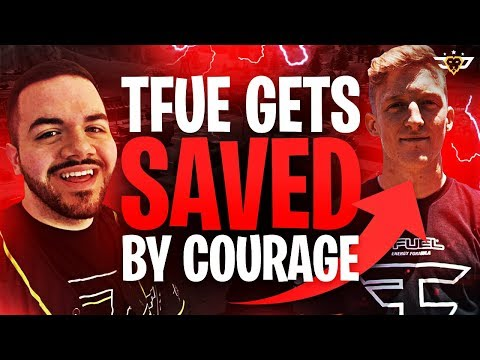 TFUE GETS SAVED BY COURAGE?! PRO SCRIM INSANITY! (Fortnite: Battle Royale)