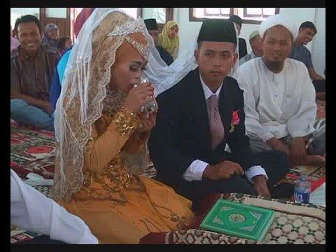 Alhamdulillah...Nikah Dengan Mahar Segelas Air Putih - Aceh