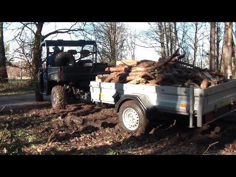 brennholz holen mit einem pkw anh nger und dem ranger xp. Black Bedroom Furniture Sets. Home Design Ideas
