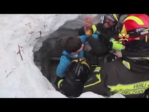 Watch Boy's Dramatic Rescue After He Was Buried In Hotel After Avalanche