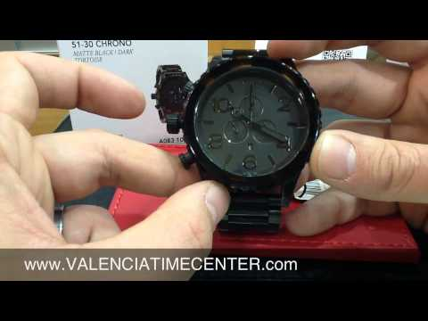 71f73cf791f Nixon 51-30 Chrono Matte Black Dark Tortoise Review by Valencia Time Center