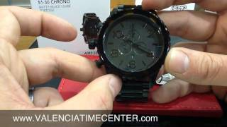 Repeat youtube video Nixon 51-30 Chrono Matte Black/Dark Tortoise Review by Valencia Time Center