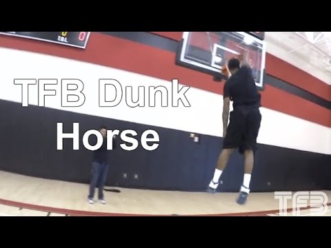 Team Flight Brothers Warm up with some Follow the Leader Dunk Horse