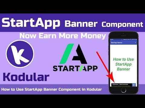 How To Use New Monetization Component StartApp Banner in Kodular | Kodular Tutorials