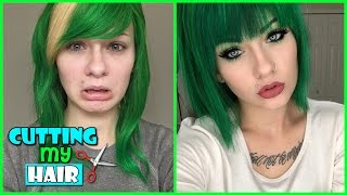 CUTTING MY WIG SHORT! (+Dying Dark Green) | HeyThereImShannon