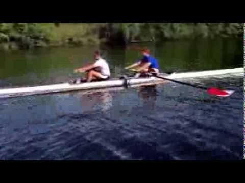 Z and J, upstream, start of practice, Sunday