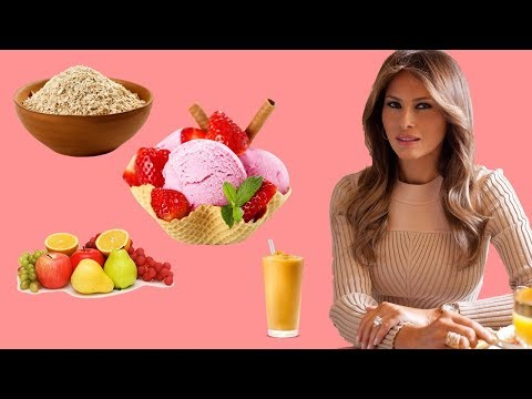 Melania Trump's diet.  What does the First Lady eat?