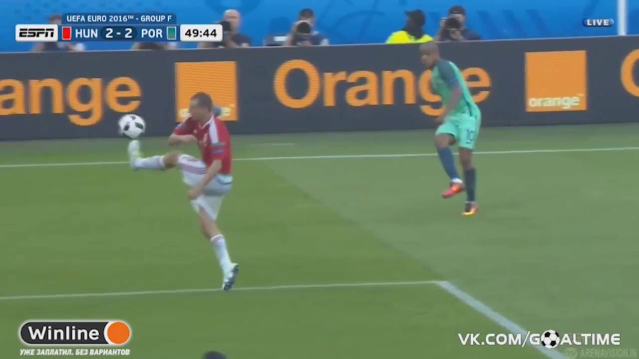 Cristiano Ronaldo Amazing Backheel Goal vs Hungary HD (22/06/16)