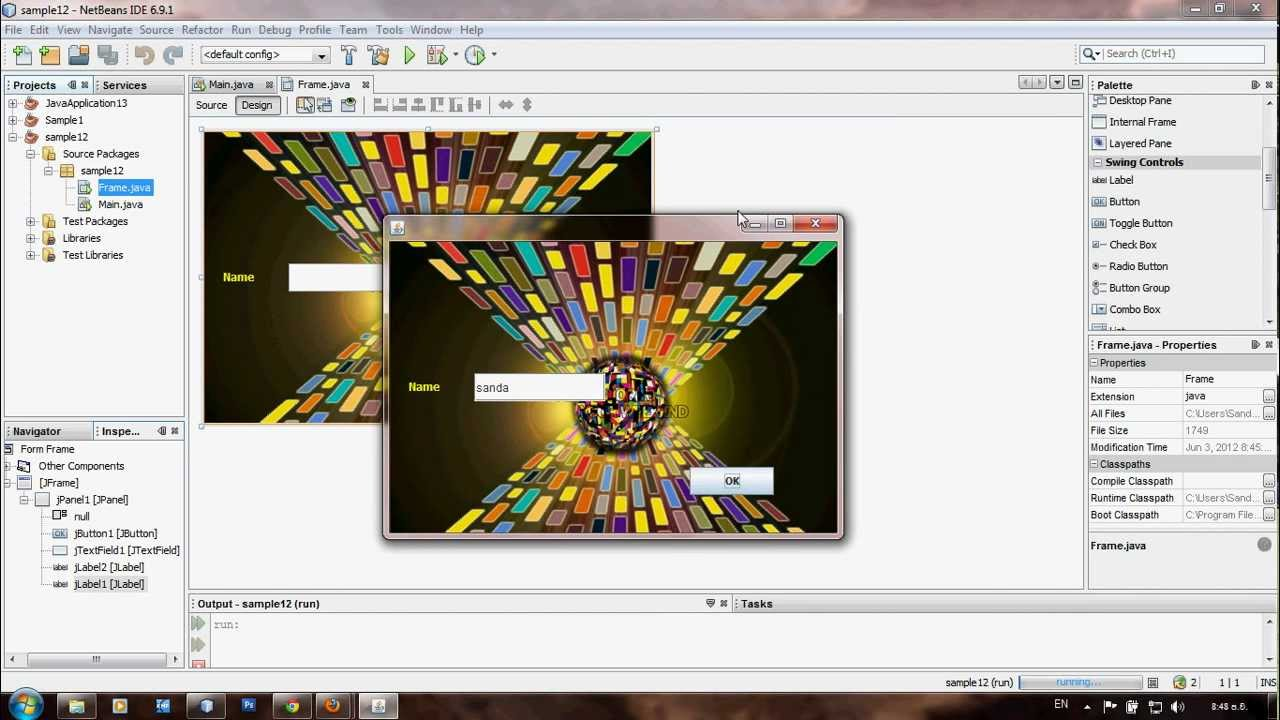 How to add an image to jframe in netbeans mp4