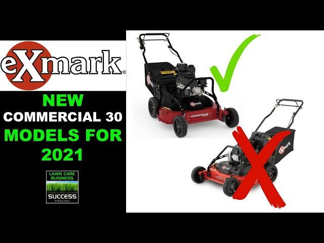 New Exmark Commercial 30 models for 2021