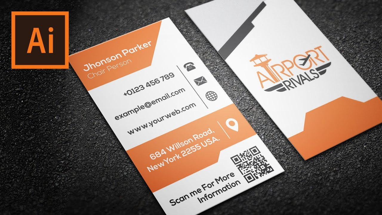 How To Create Vector Corporate Business Card Design | Graphic ...