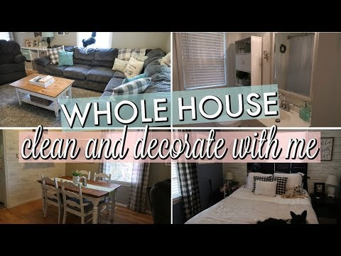 CLEAN AND DECORATE WITH ME / LATE SPRING DECORATING