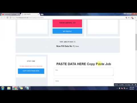 Copy Paste Jobs - Weekly Payouts - Make Money Online doing copy paste work from home part time jobs