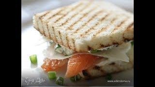 Юлия Высоцкая — Сэндвичи с семгой и сливочным сыром