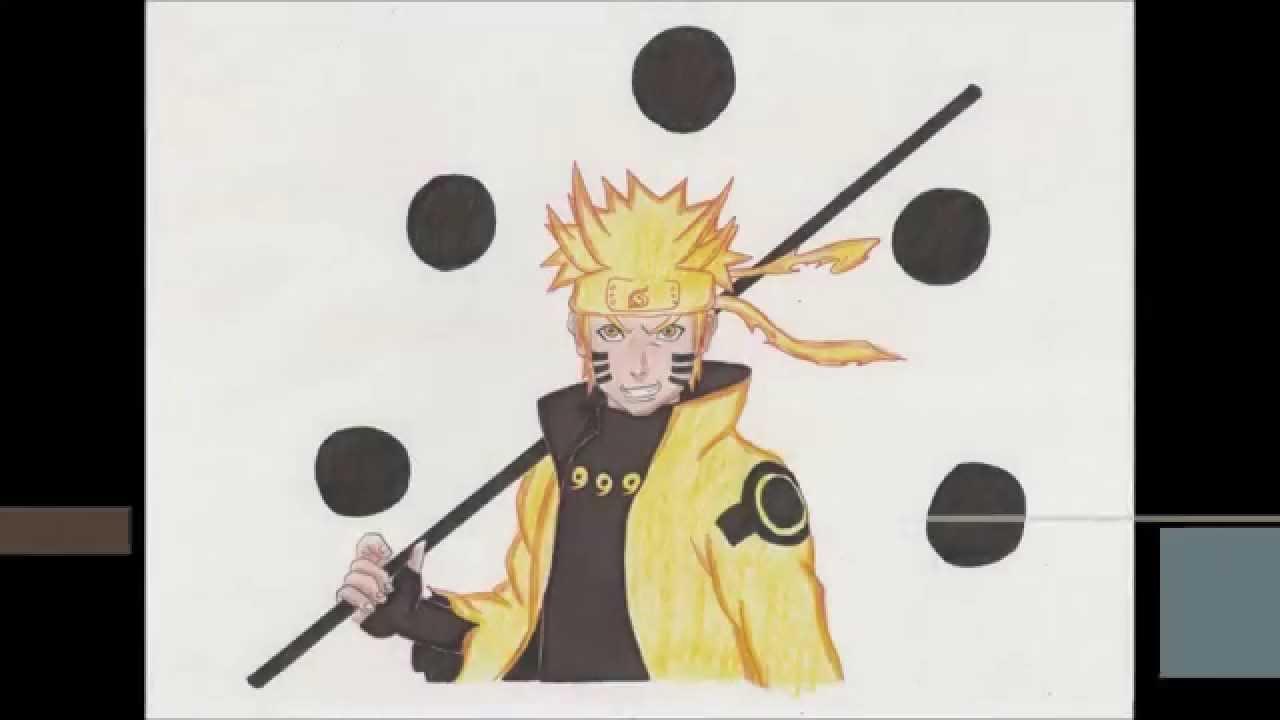 Naruto Modo Sabio De Los 6 Caminos Para Colorear: Dibujando A Naruto Rikudou Sennin