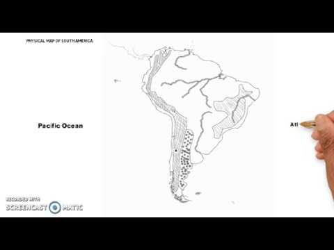 Physical Map Of South America (Deserts, Mountains And States)