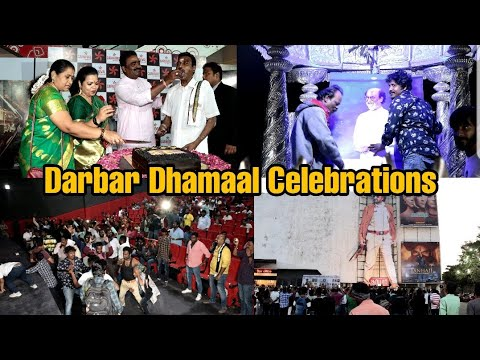 Darbar Movie Grand Celebration | Complete Video | Dance, Milk Abhisekh, Cake Cutting For Rajinikanth