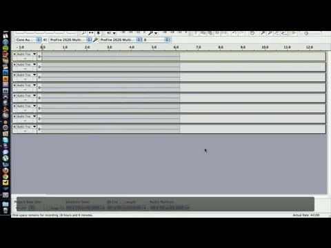 Help Using Audacity for Recording Drums : Audio Recording
