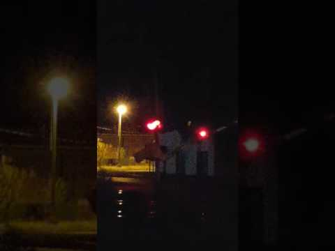 3rd AVE Railroad Crossing, Terre Haute, IN  (Night)